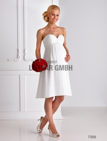 bridal dress with shawl - maternity (lacing)